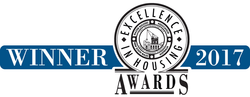 Winner - 2017 Master Builders Association NSW Excellence in Housing Awards