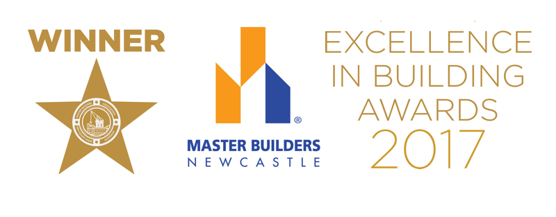 Winner - 2017 Master Builders Association Newcastle Excellence in Building Awards